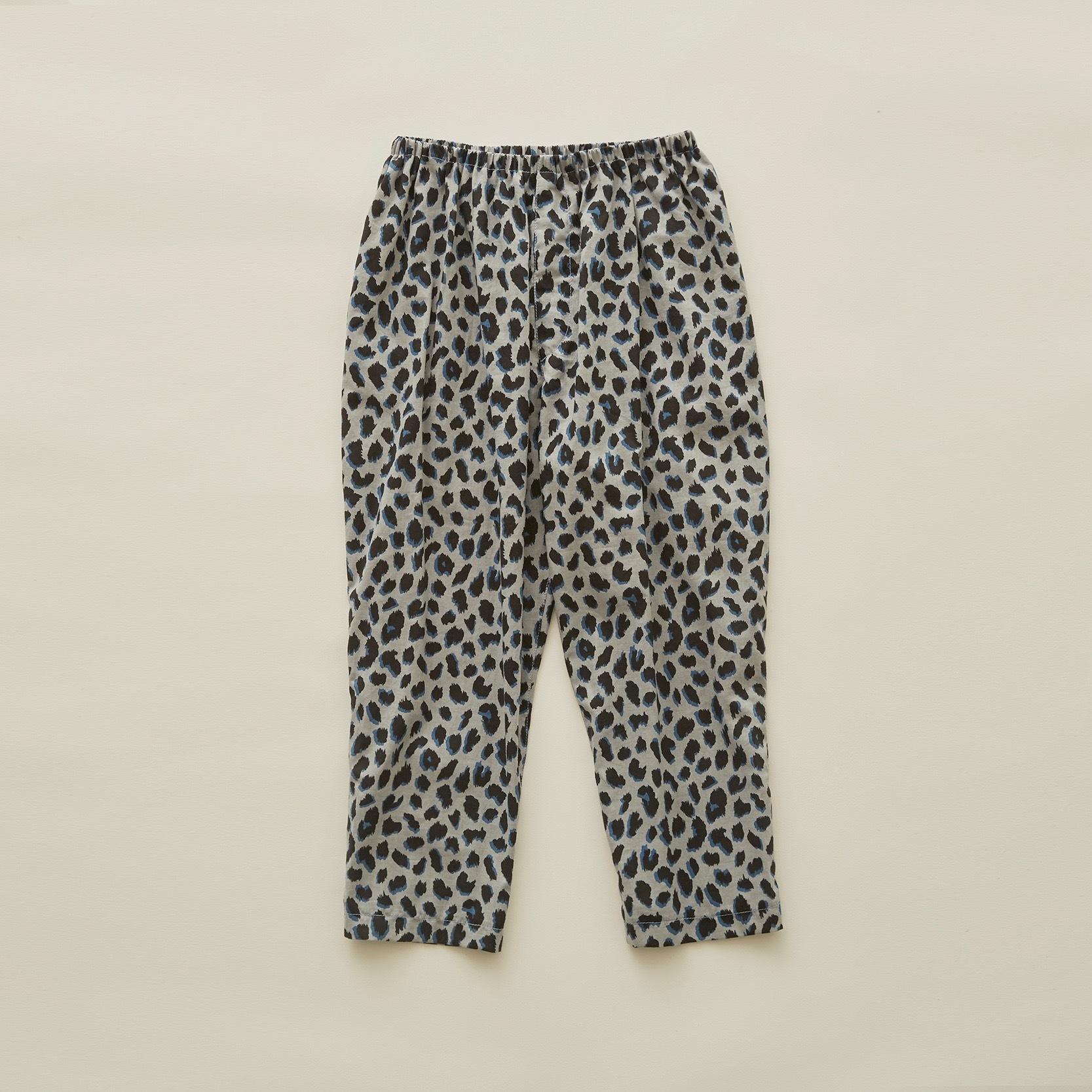 《eLfinFolk 2020SS》leopard pants / gray / 110-130cm