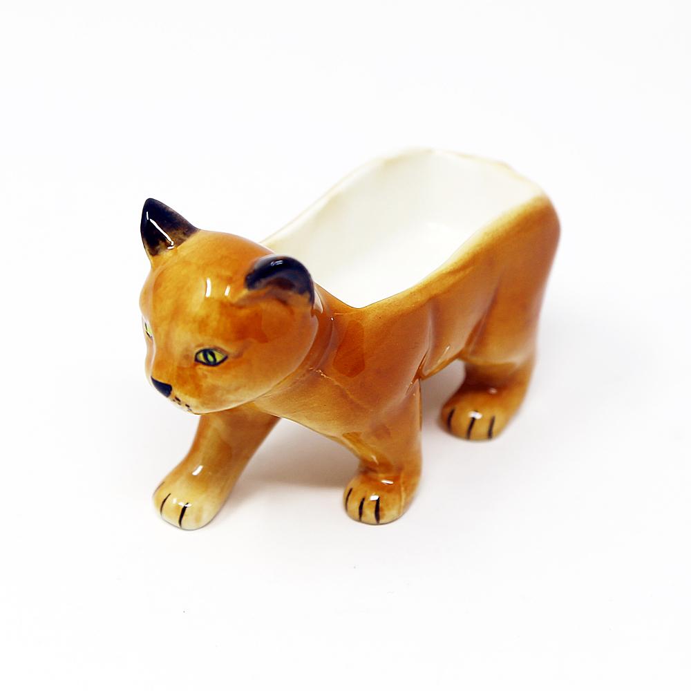 猫ジュエリーホルダー(アニマルジュエリーホルダー)茶猫