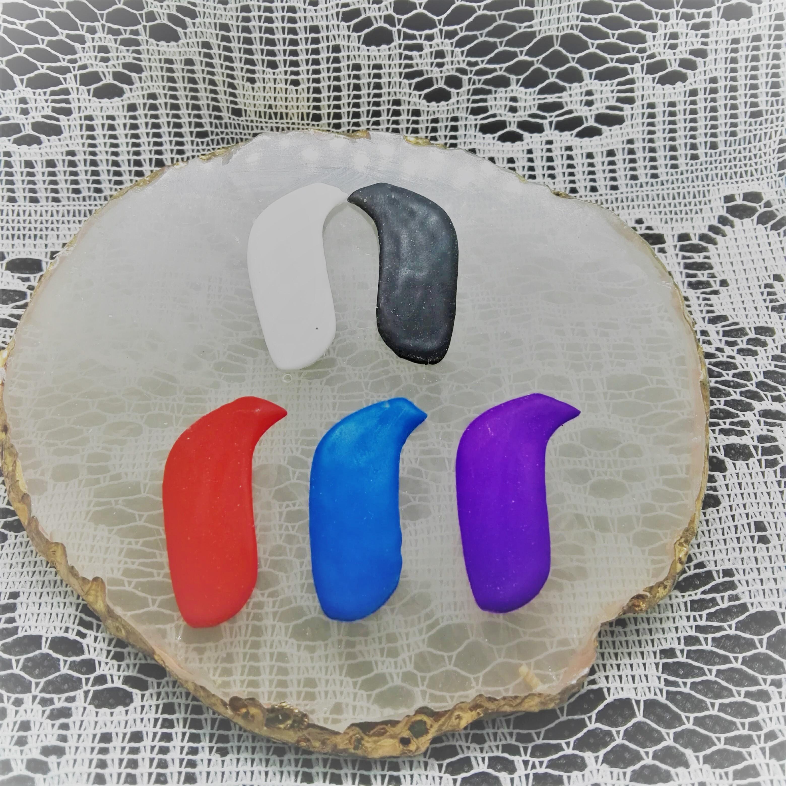 おしゃれ 補聴器デコチップ ワンカラーチップ(マットチップ)