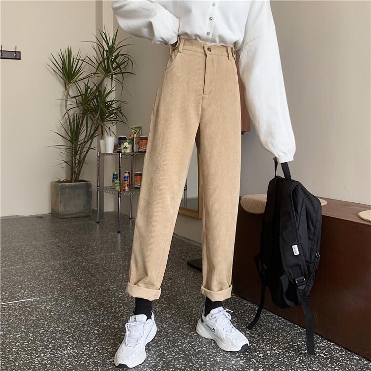 〈カフェシリーズ〉ベルベットコーデュロイパンツ【Velvet corduroy pants】