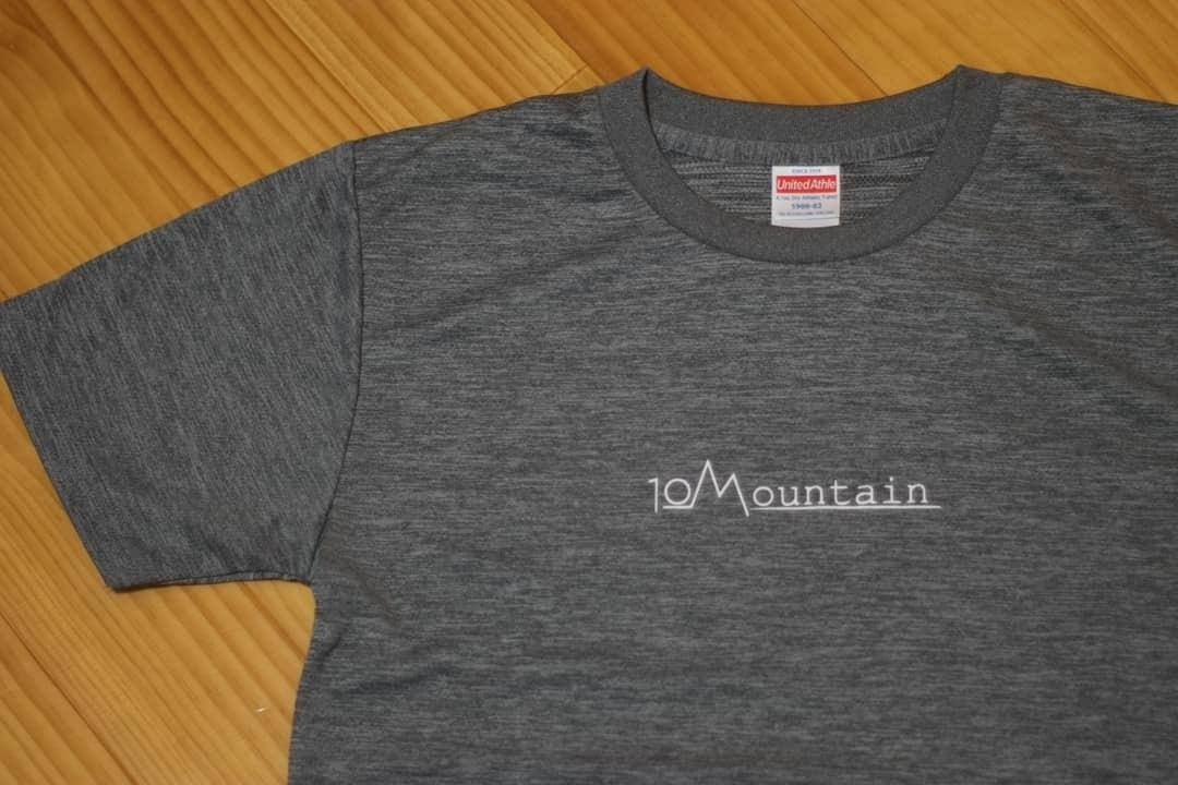 10Mountain シンプルロゴ ヘザーグレー / for sports