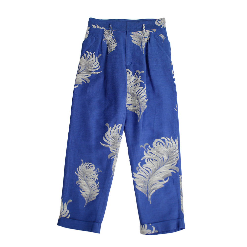BED J.W. FORD Jacquard trousers Blue