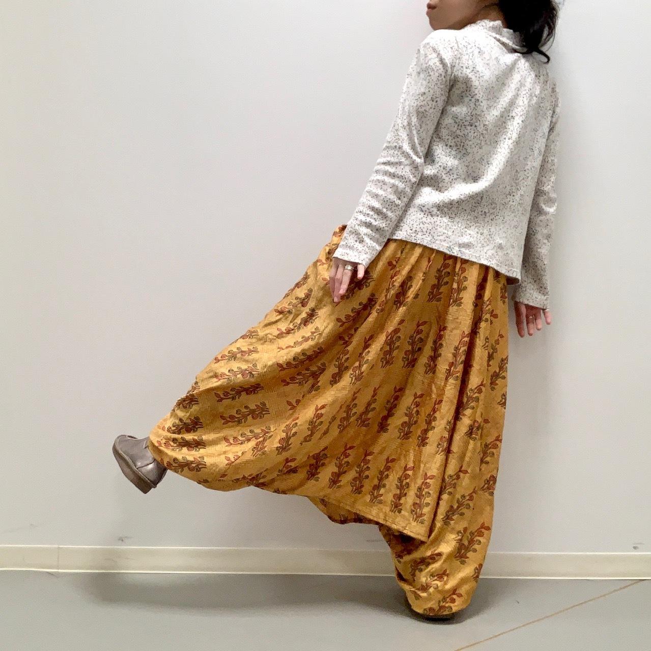 vtri-009 ビンテージシルクサリー トリスタイル【ツルムラサキ】