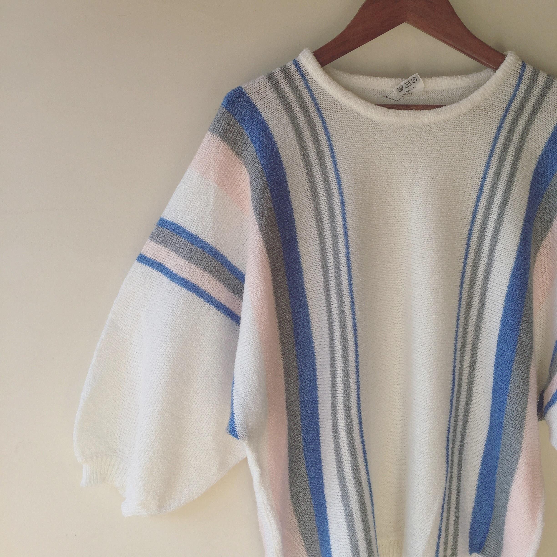 vintage pile knit dolman tops