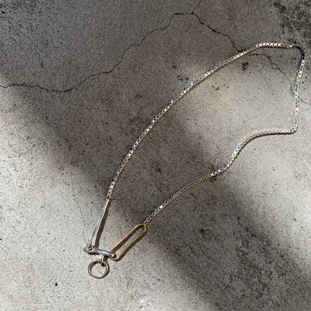 KNOBBLY STUDIO - TWIN LINK NECKLACE