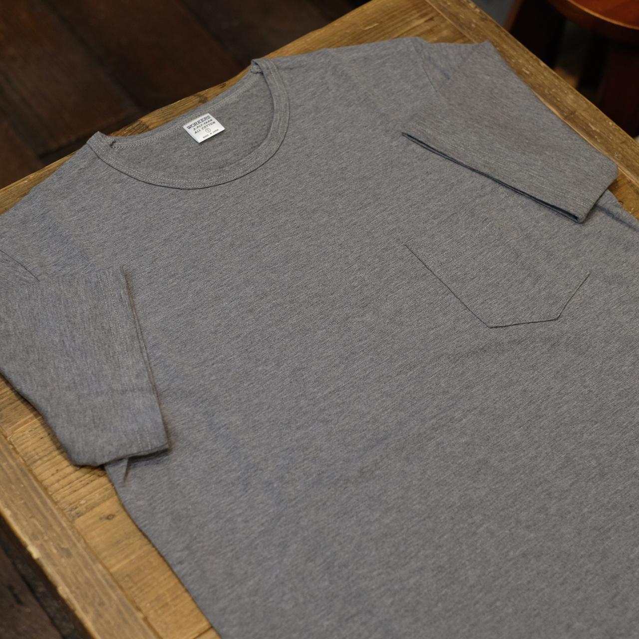Workers(ワーカーズ) CIRCLE別注 3PLY ポケットTシャツ Cグレー