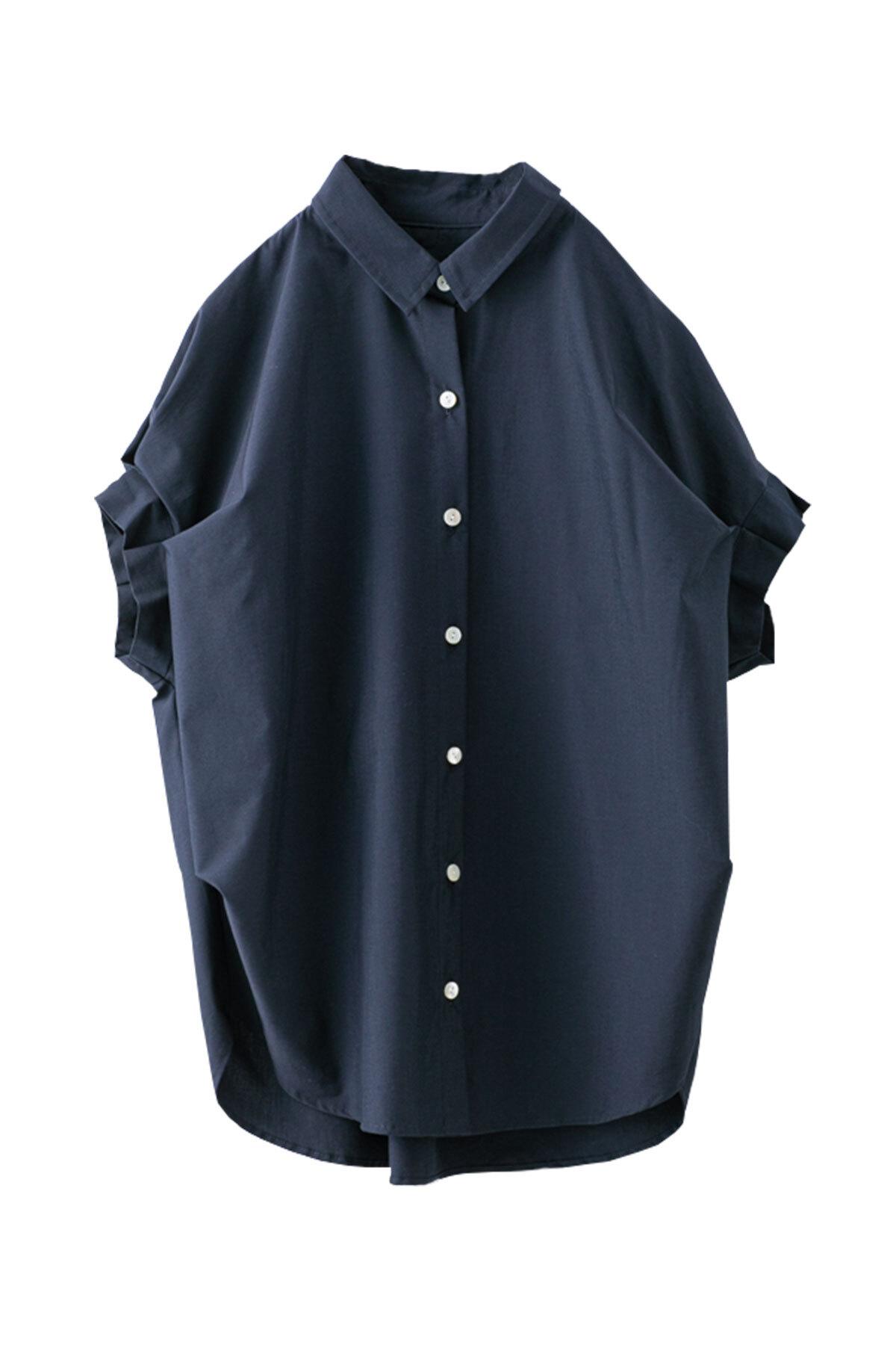 タックスリーブシャツ  <ネイビー>