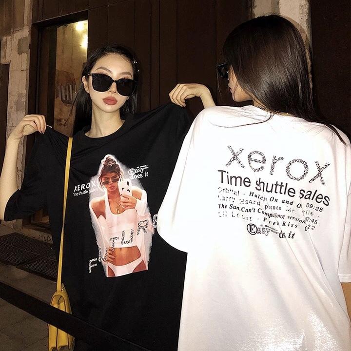 glitter logo girl t-shirt