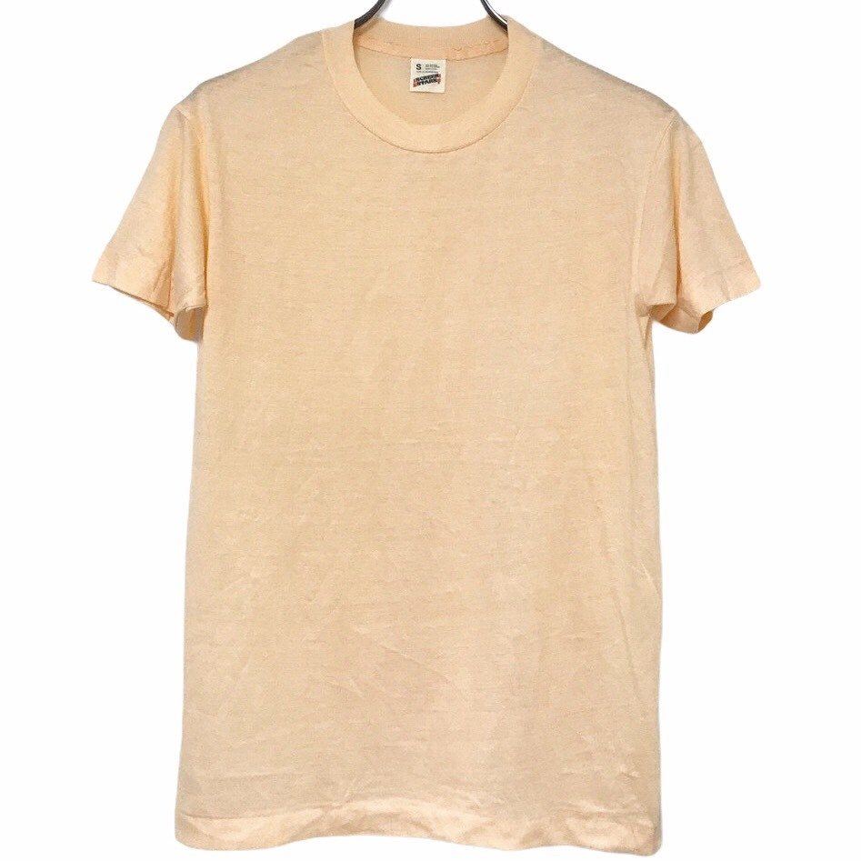 Dead Stock! 80's SCREEN STARS T-shirt made in USA Light Orange