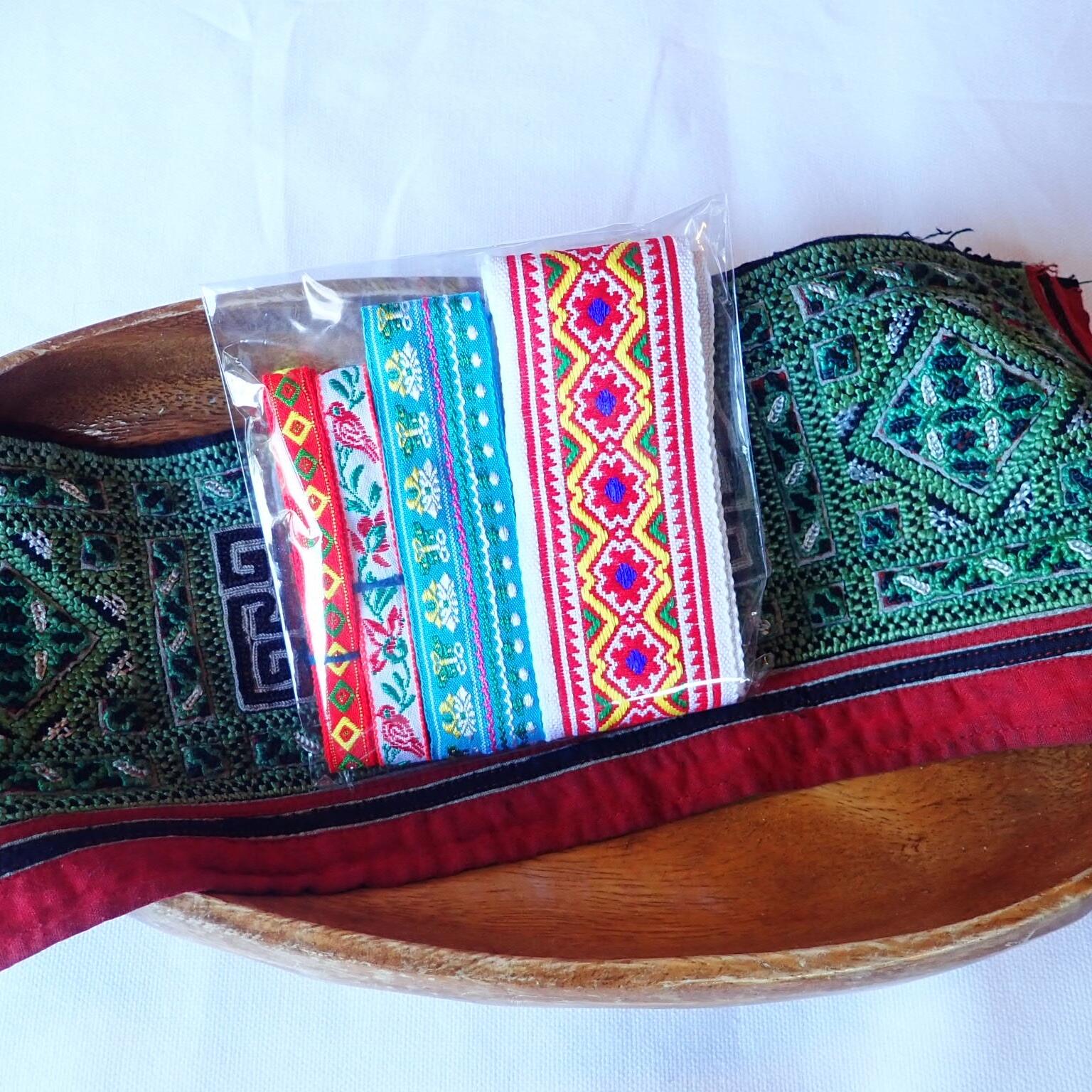 チェンマイ モン族刺繍テープセット *6*