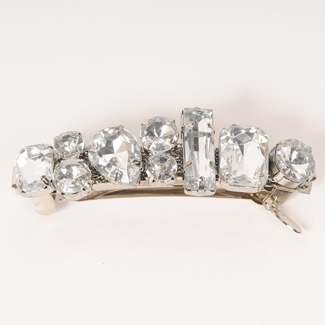 Joe19SS-28 bijou barrette -A (silver)