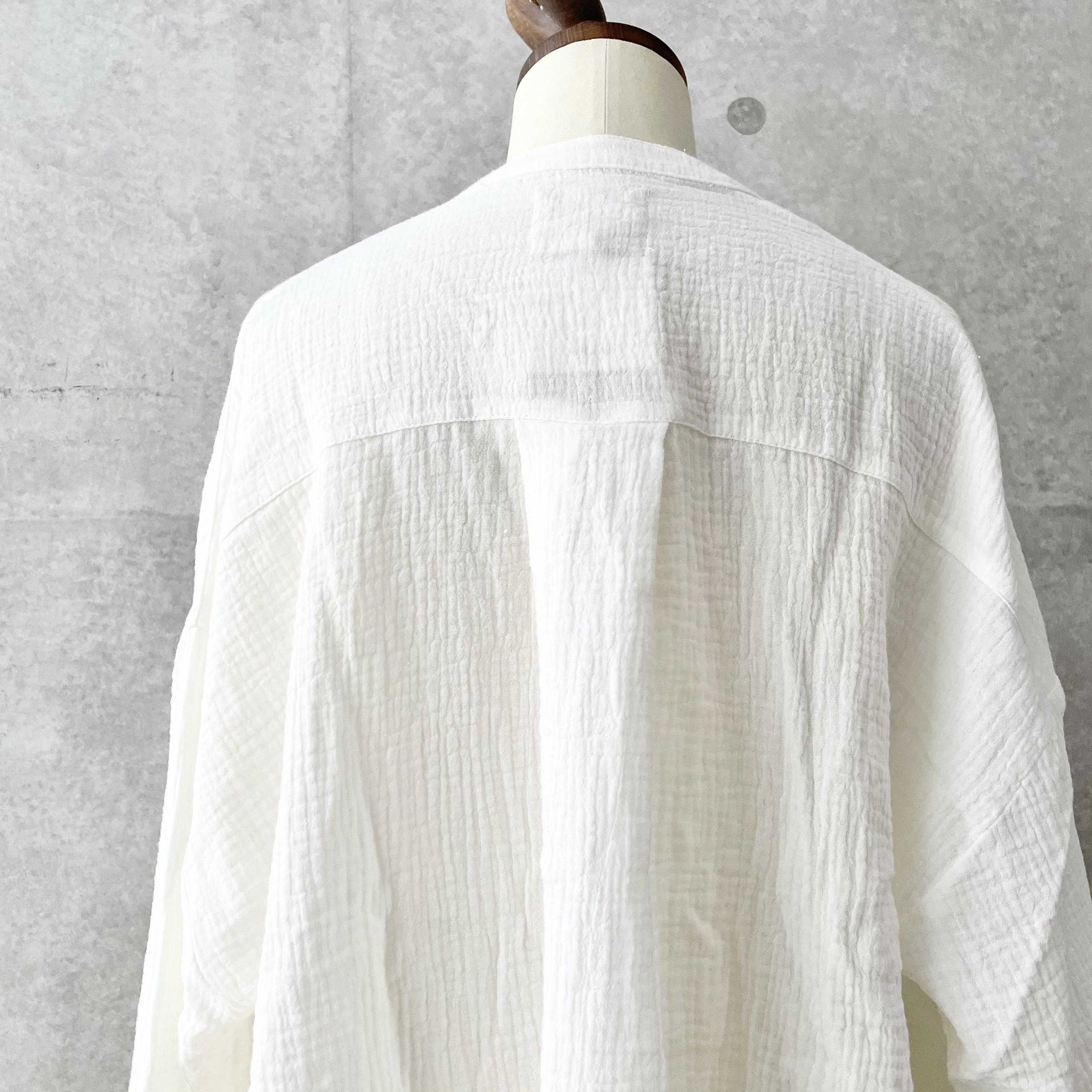 ダブルガーゼピンタックシャツ