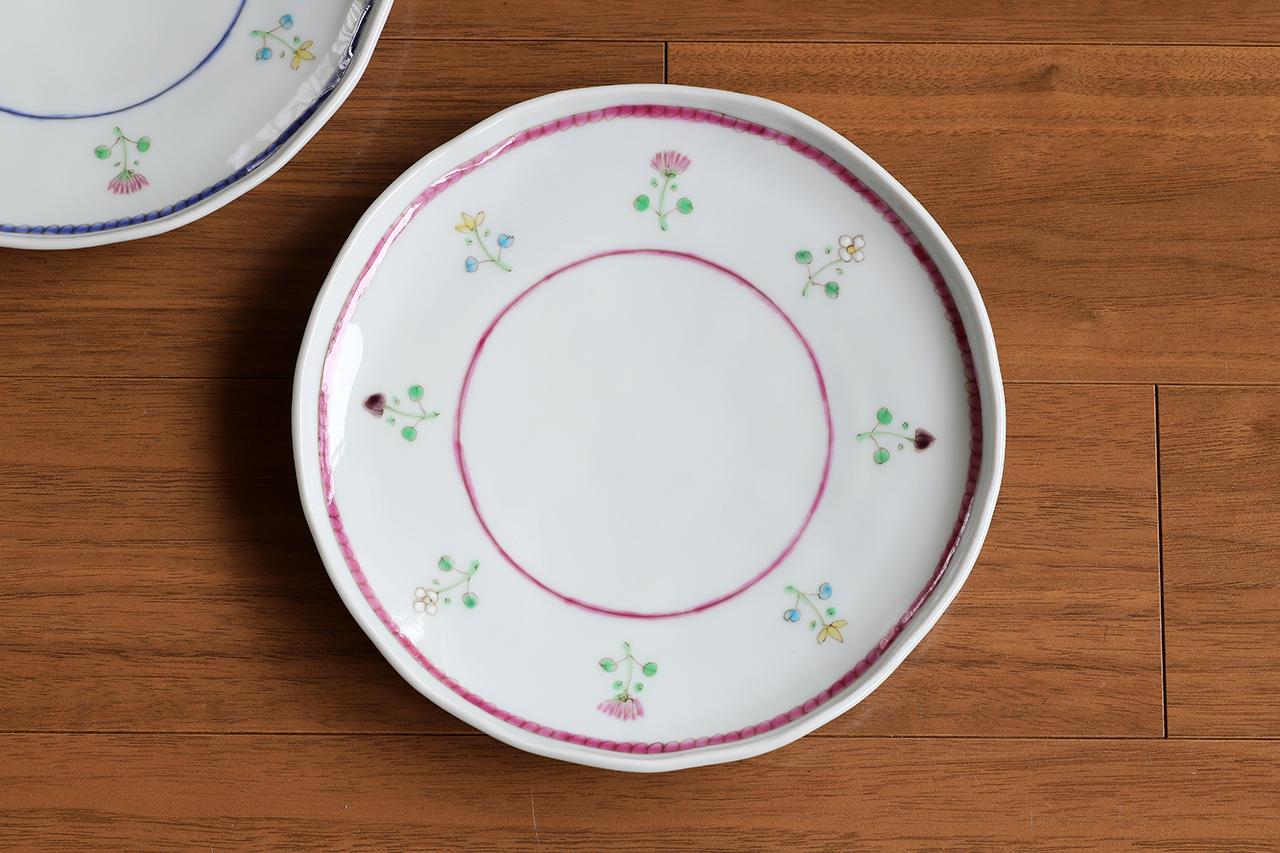 藍水 花暦(マロン) 6寸皿 直径約18cmパン皿に使える大きさの器 うつわ藍水(波佐見焼)