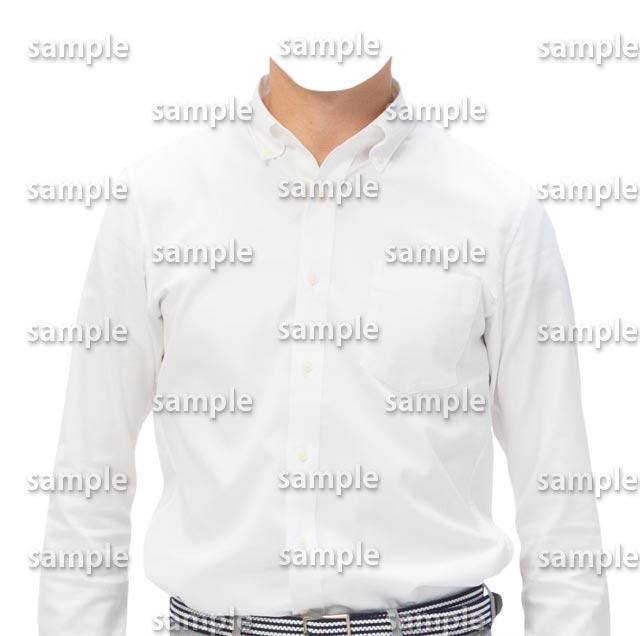 男性白ワイシャツ正面