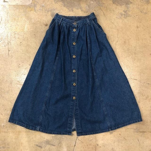Denim Long Skirt ¥4,500+tax