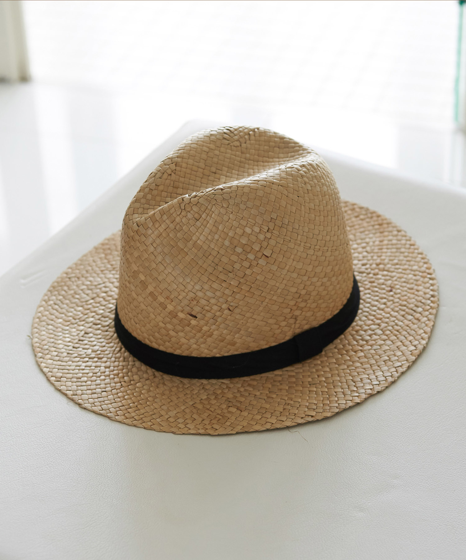 STRAW WIDE HAT[REH061]