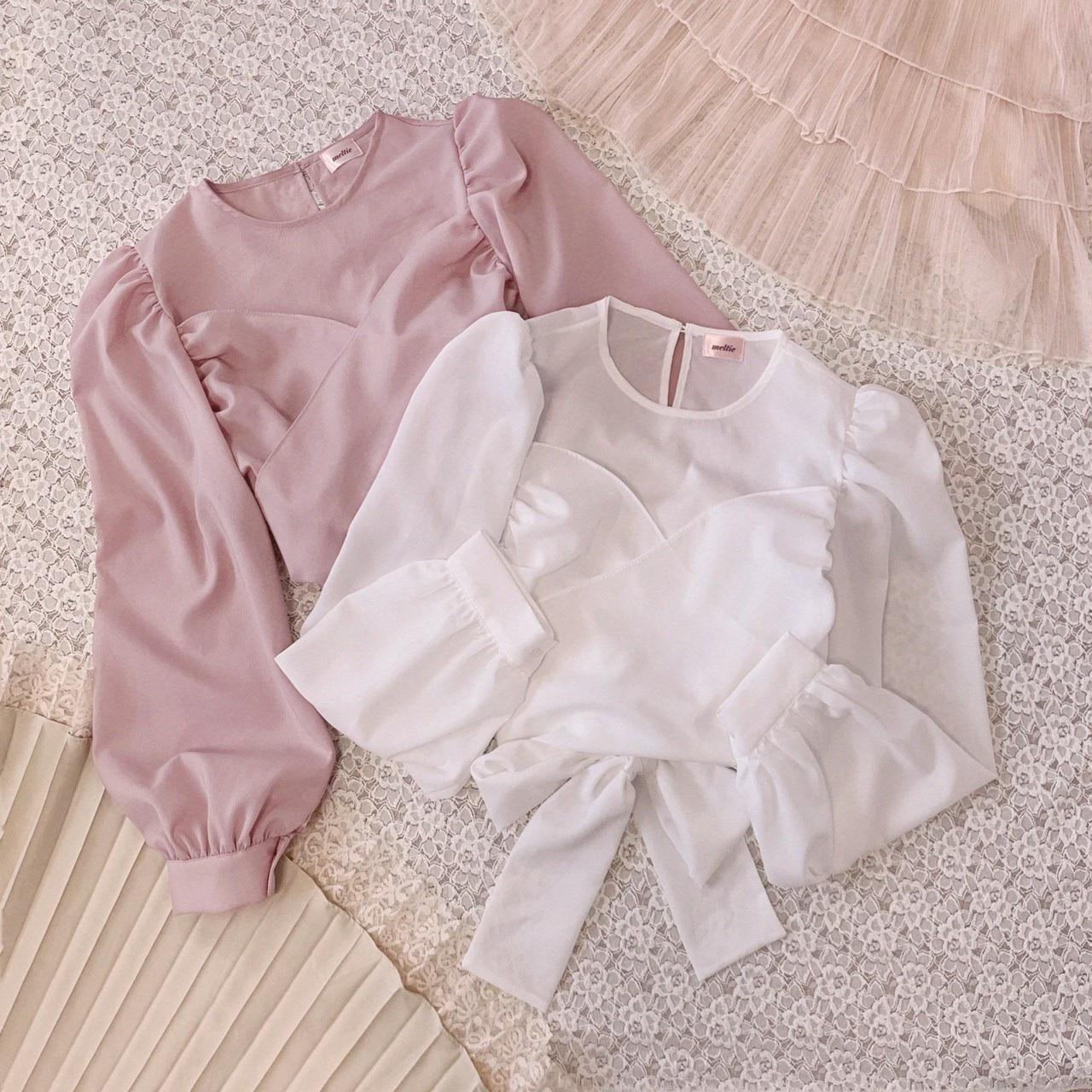 【meltie】ribbon bustier blouse