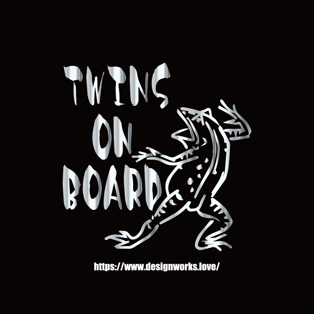 全10色 TWINS ON BOARD 鳥獣戯画 かえる ステッカー