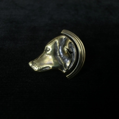 イヌのラペルピン -brass-