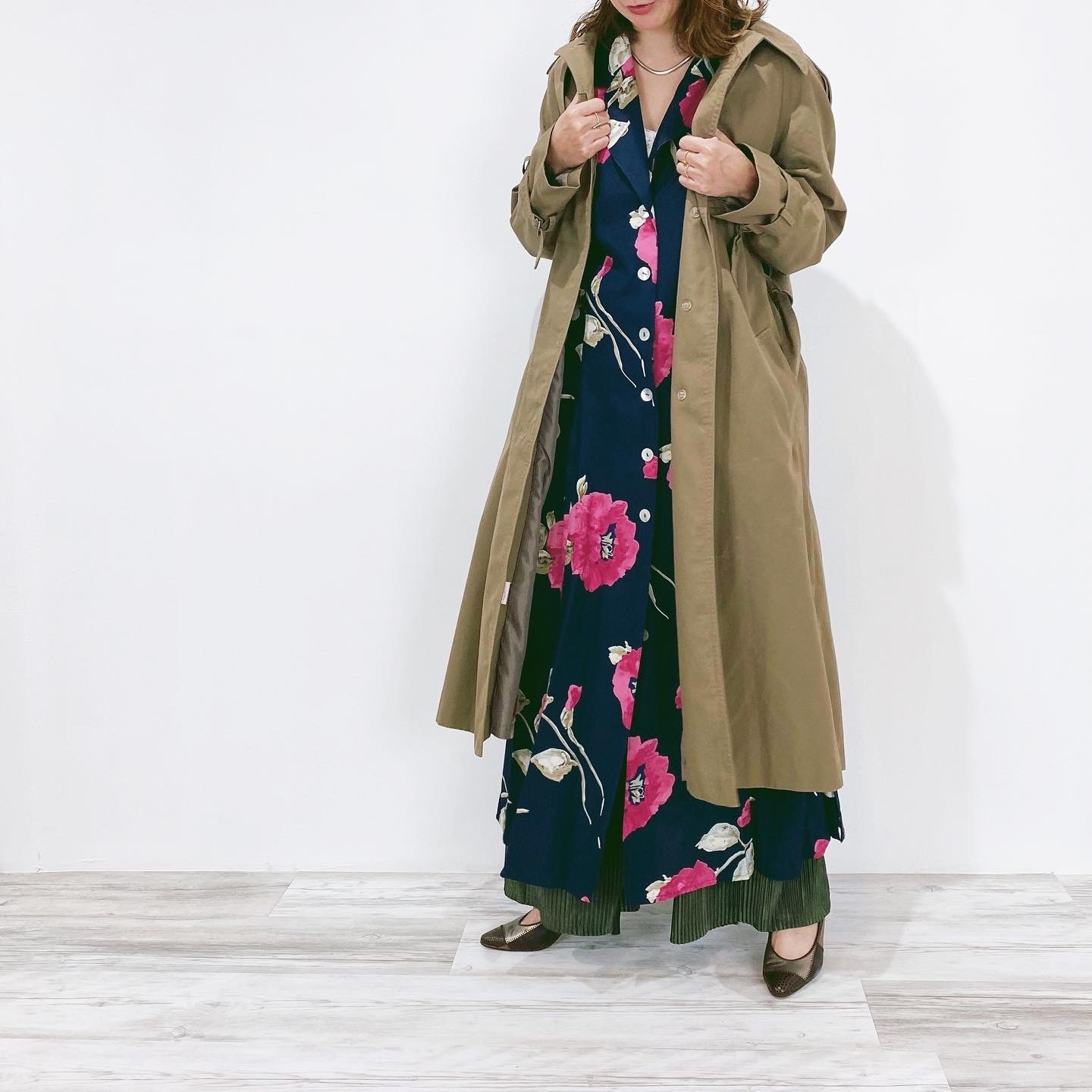 ◼︎80s vintage single trench coat from Canada◼︎