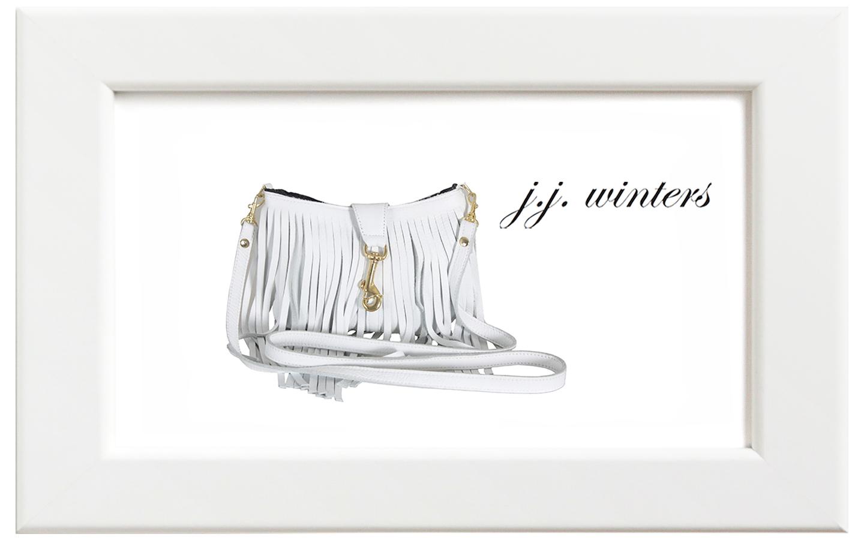 JJ winters/ジェイジェイ・ウィンターズ フリンジレザーミニバッグ/ホワイト