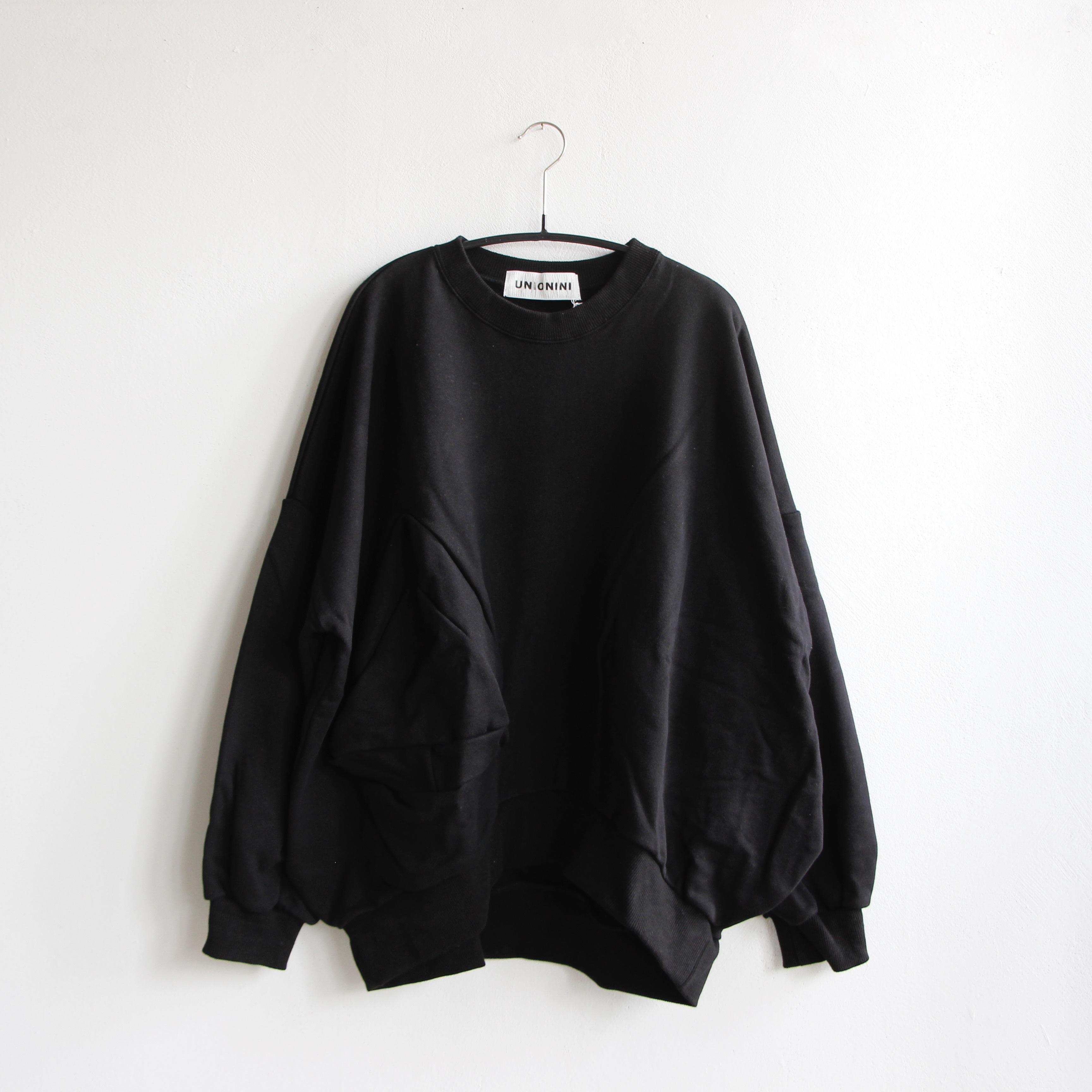 《UNIONINI 2020AW》◯△ sweat shirt / black / S・M