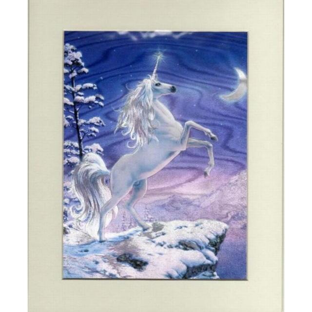 【アルミ彫刻画】月光のユニコーン[a255]ms