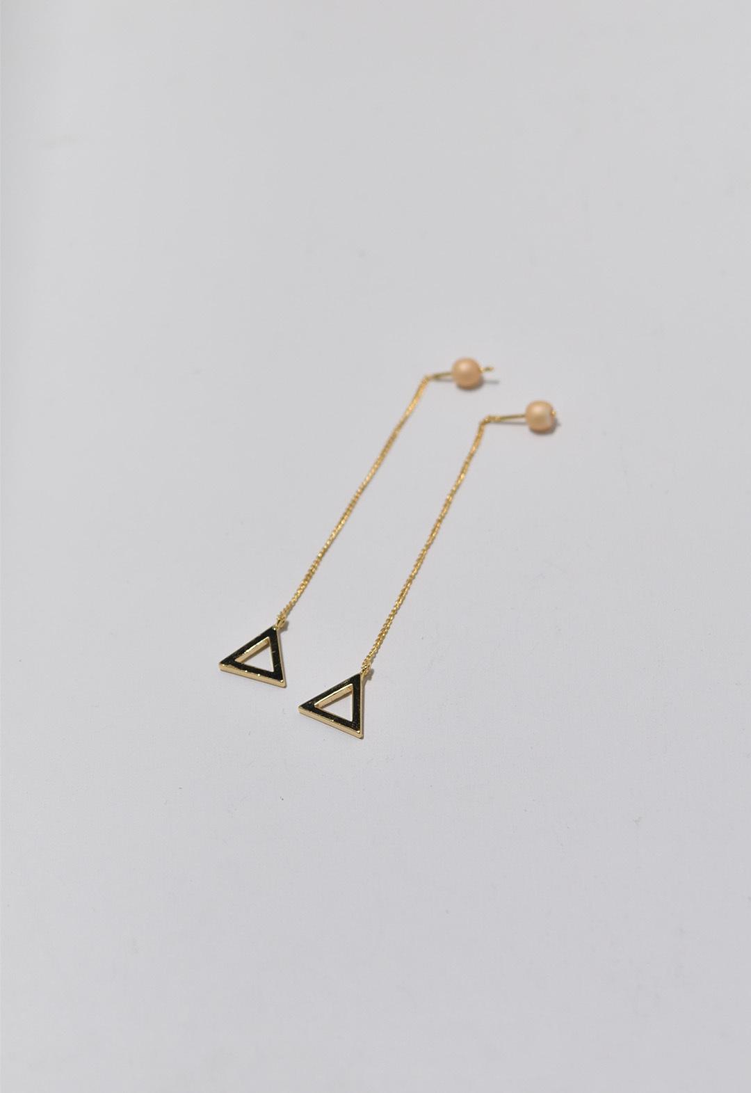 triangle frame pierce Gold/Light Orange
