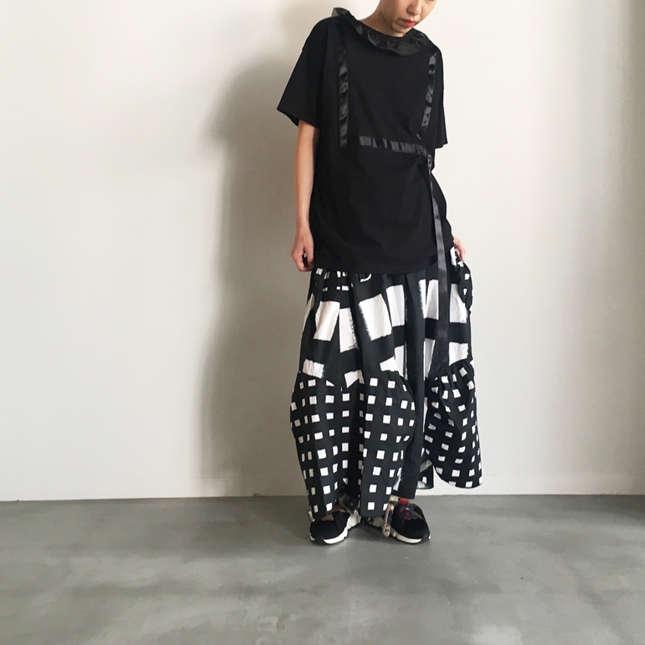 ORIG. CHECK MIX SKIRT / WOMEN