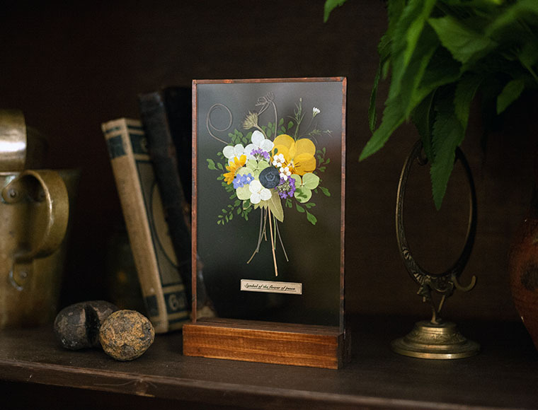 glass Specimen peaceful Bouquet(花束のガラス標本)