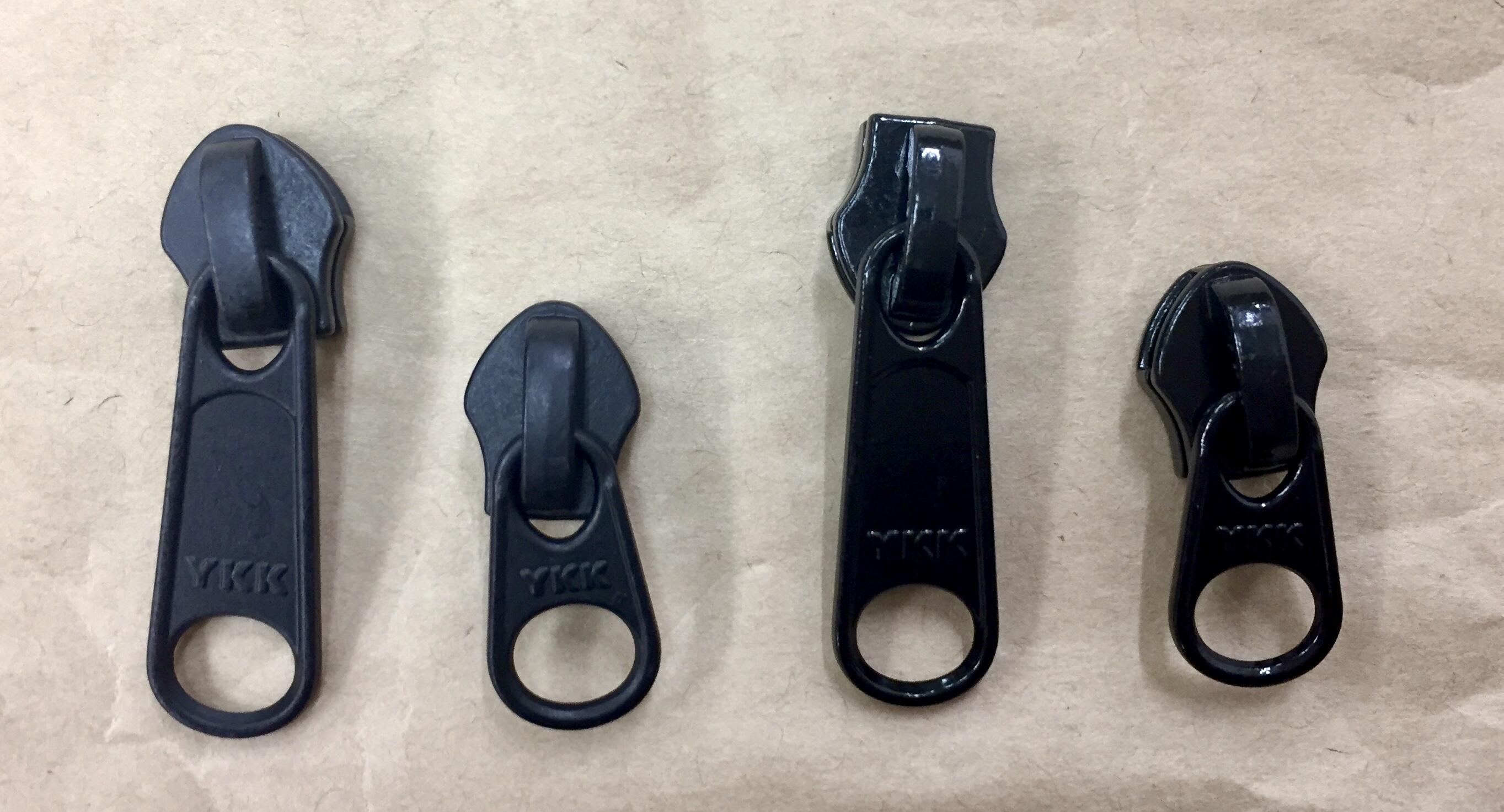YKK スライダー 止水ファスナー アクアガード用  3c DFW(短) 黒/カラー つやあり/つやなし 1個