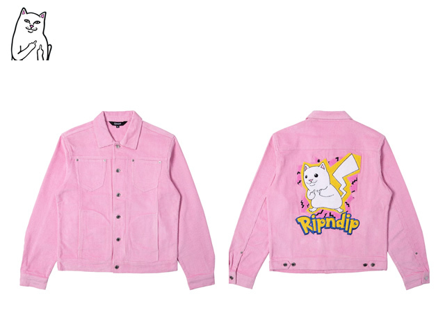 RIPNDIP|Catch Em All Corduroy Jacket (Pink)