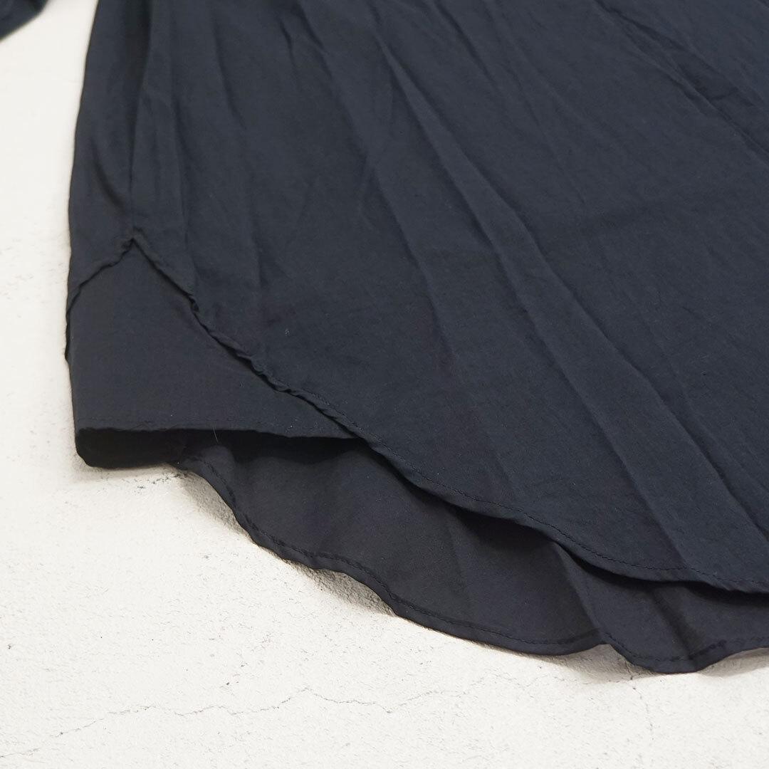 MidiUmi ミディウミ band collar front fly flane shirt バンドカラーフロントフライフレインシャツ 【返品交換不可】 (品番2-738133)