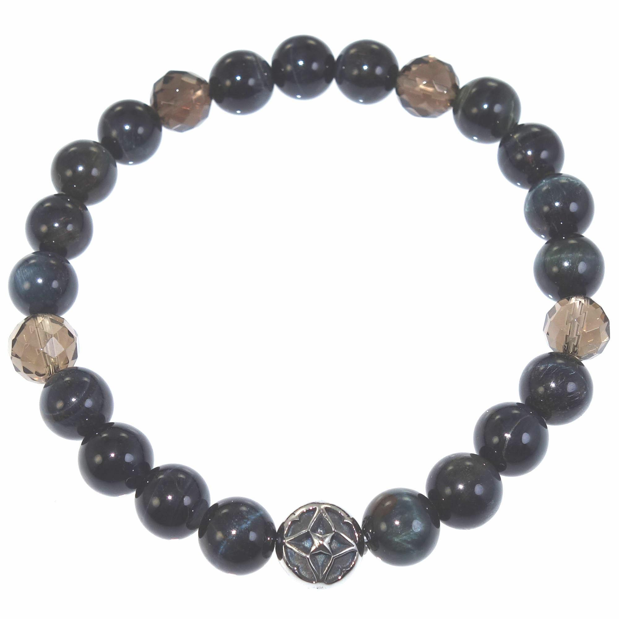 トレサリーブルータイガーアイ数珠ブレス ACB0100