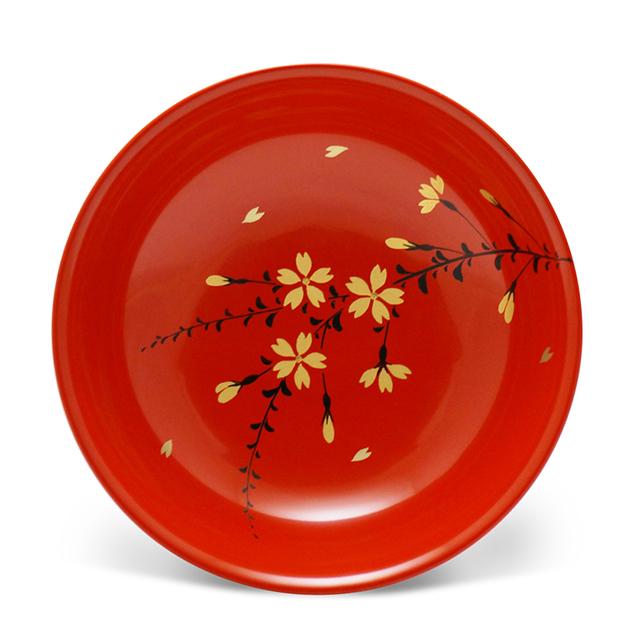 手塩皿4.0洗朱本金枝桜(5)