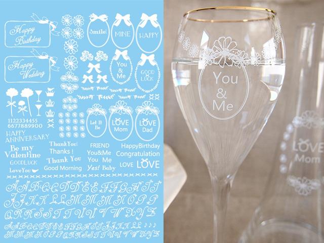 ガラス用 HAPPY MESSAGE ホワイト (ポーセリンアート転写紙)