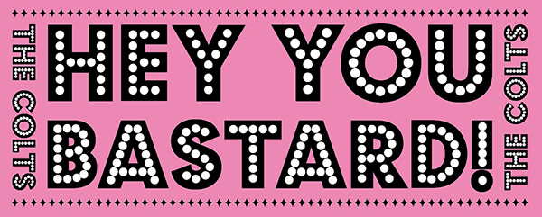 ★THE COLTS・オリジナル「HEY YOU BASTARD!」フェイスタオル・ピンク RVCG-008