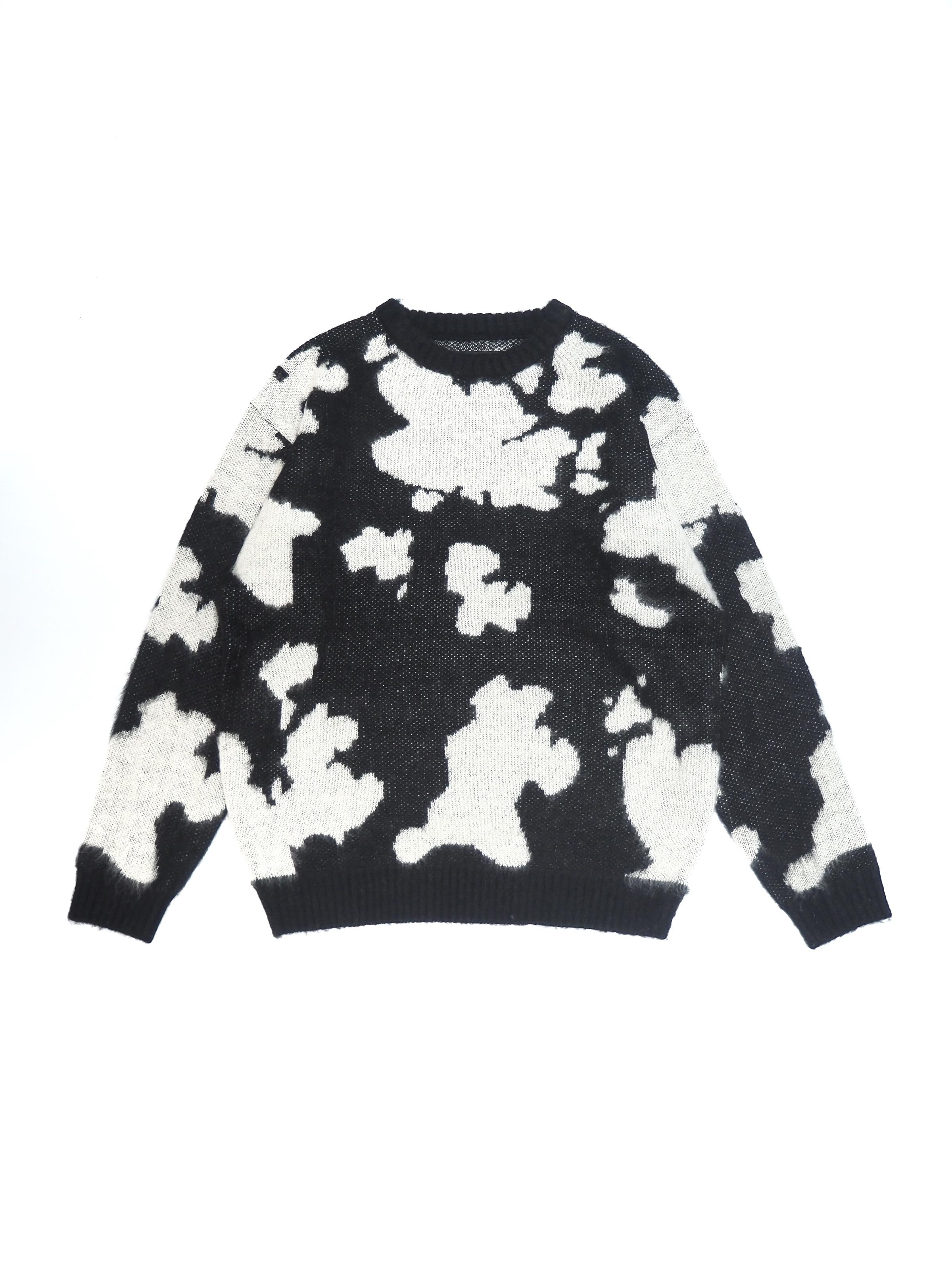 【TOWN CRAFT】70s jacquard crew-neck sweater