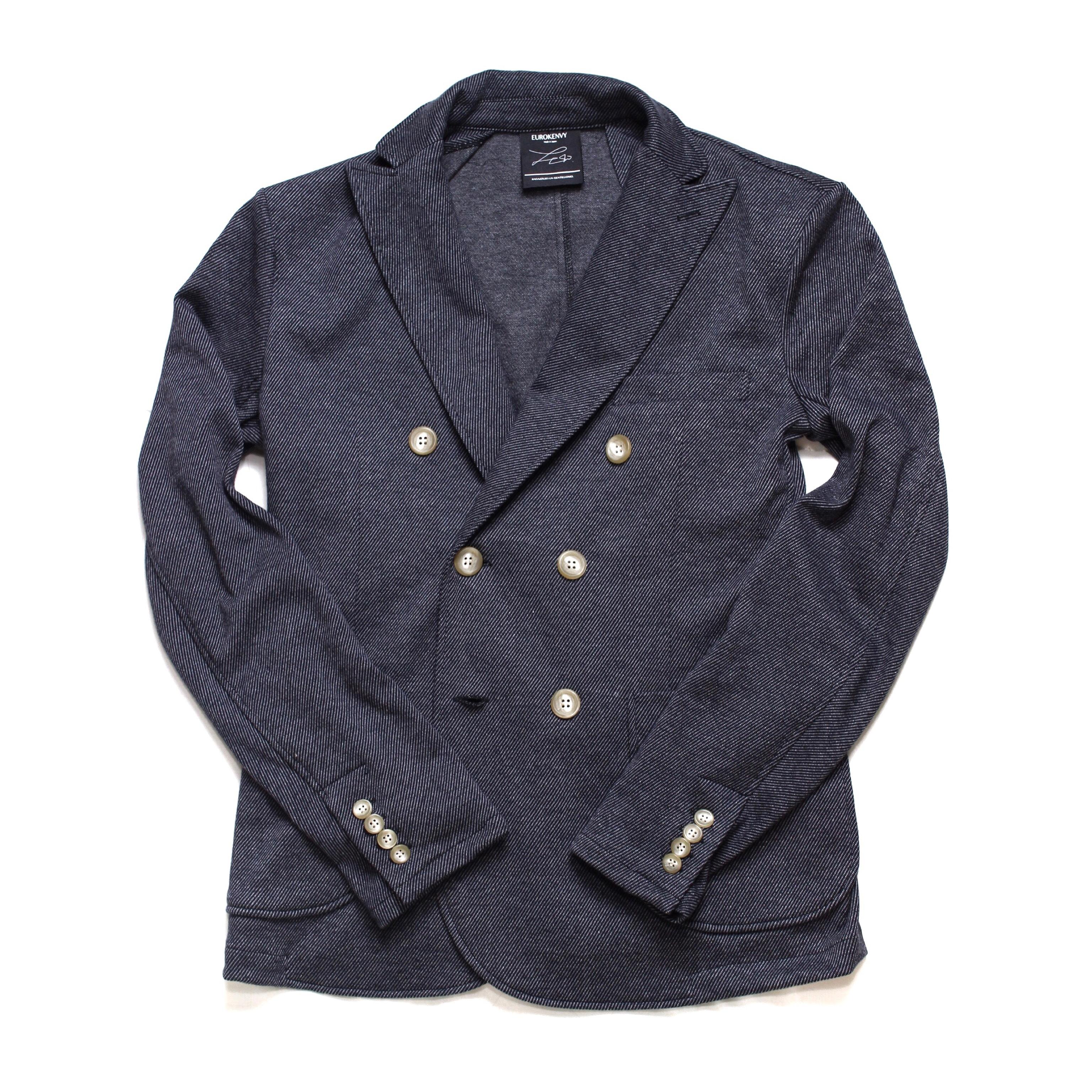 soft jersey double jacket GREY(ソフトジャージーダブルジャケット)