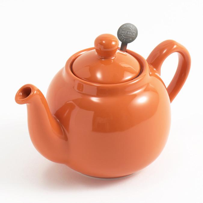ティーポット 2カップ 550ml オレンジ