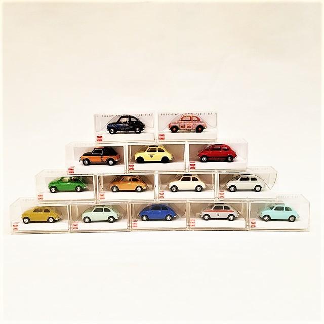 FIAT500 Una piccola macchina set 1/87 【BUSCH】【1セットのみ】【税込価格】