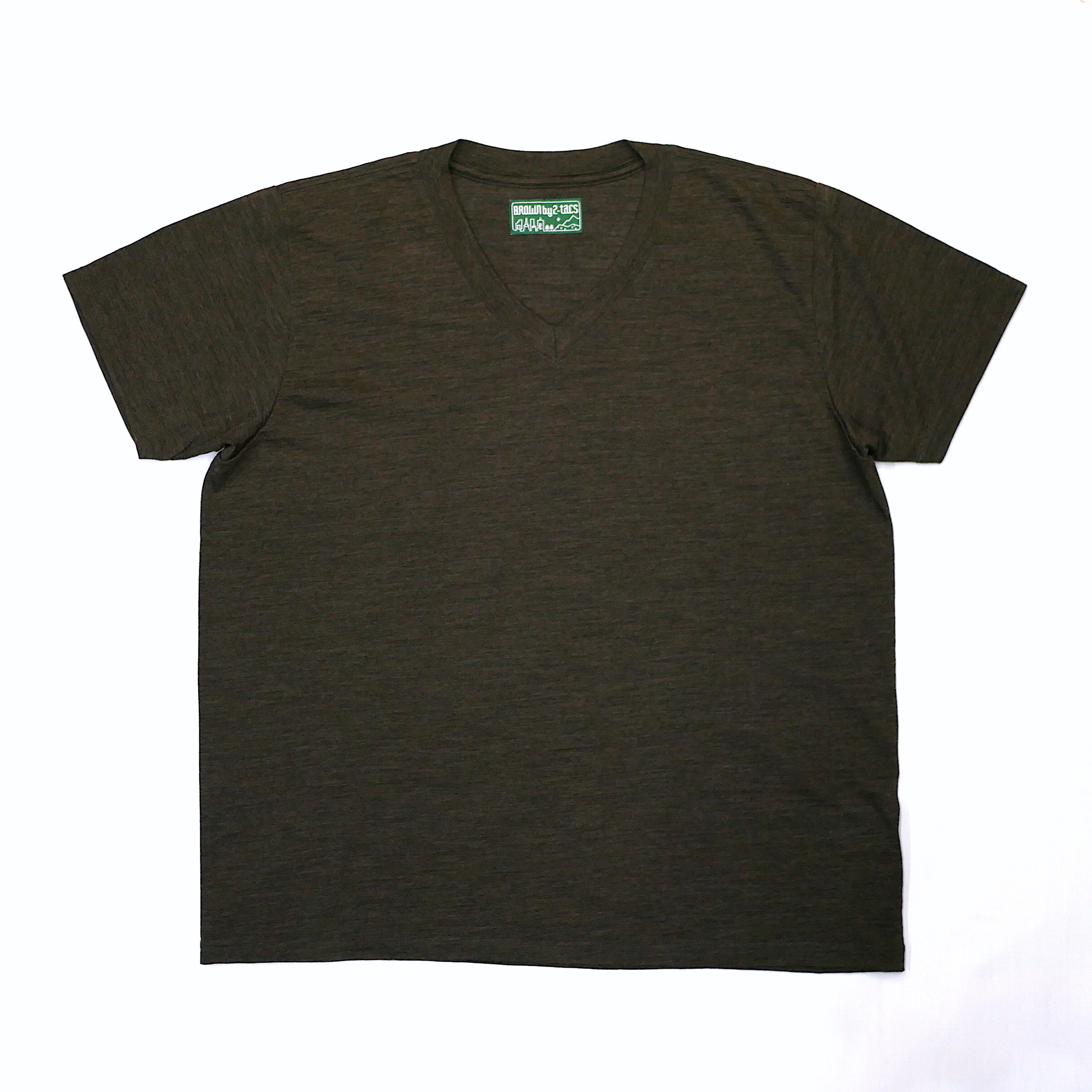 BROWN by 2-tacs / BAA#1  V-NECK