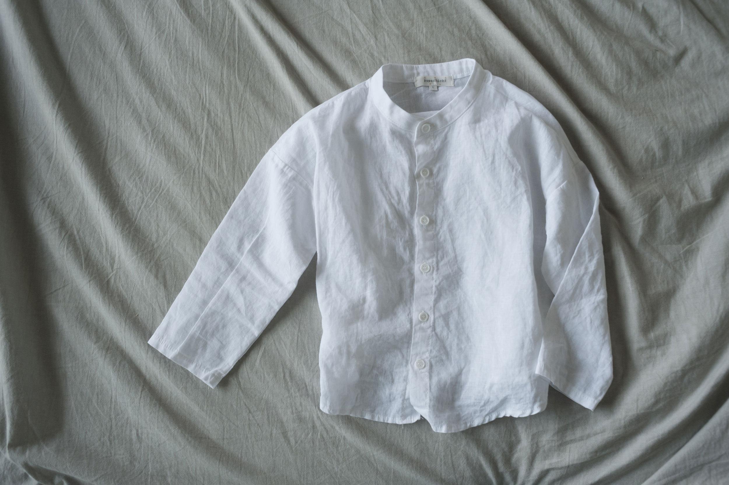 popo chichi ノーカラーシャツ