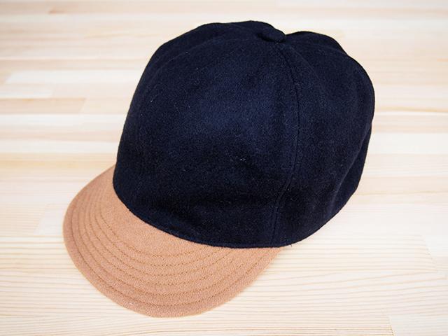 """【客注商品 K】ウール ベースボールキャップ 64㎝""""WOOL BASE BALL CAP""""(NAVY  64)"""