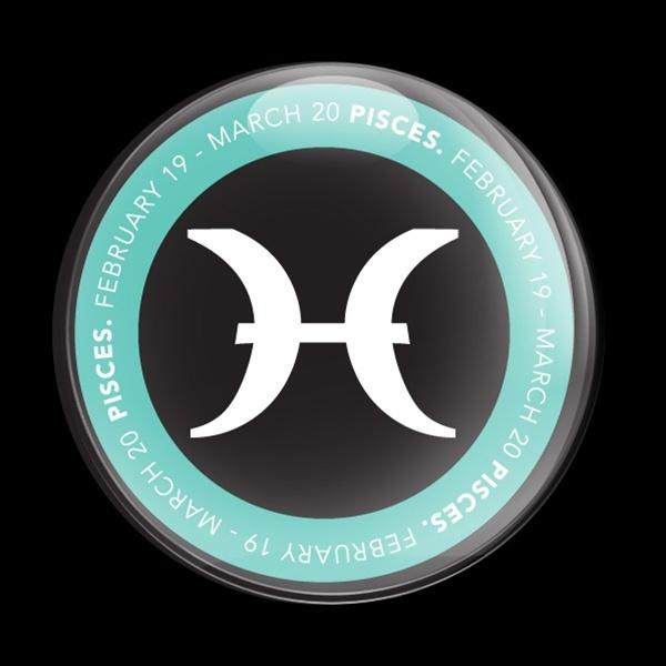 ゴーバッジ(ドーム)(CD0051 - ASTROLOGY PISCES) - 画像1