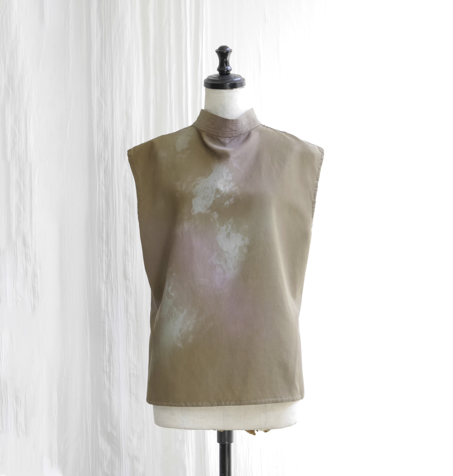 CAMOFLAGE PAINT  TWILL BLOUSE  /  GOLD BEIGE