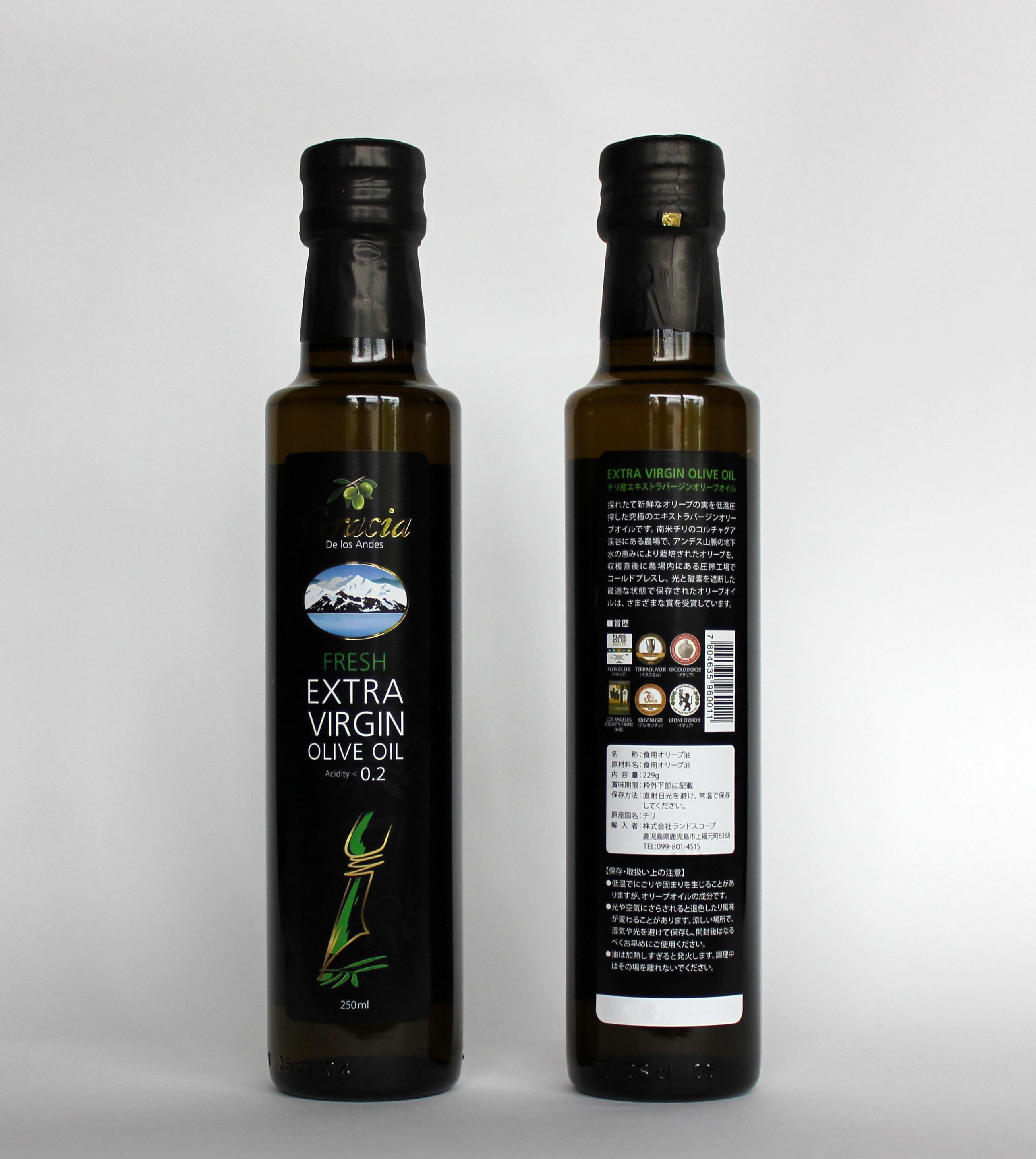 エキストラバージンオリーブオイル グラシア 250ml/12本