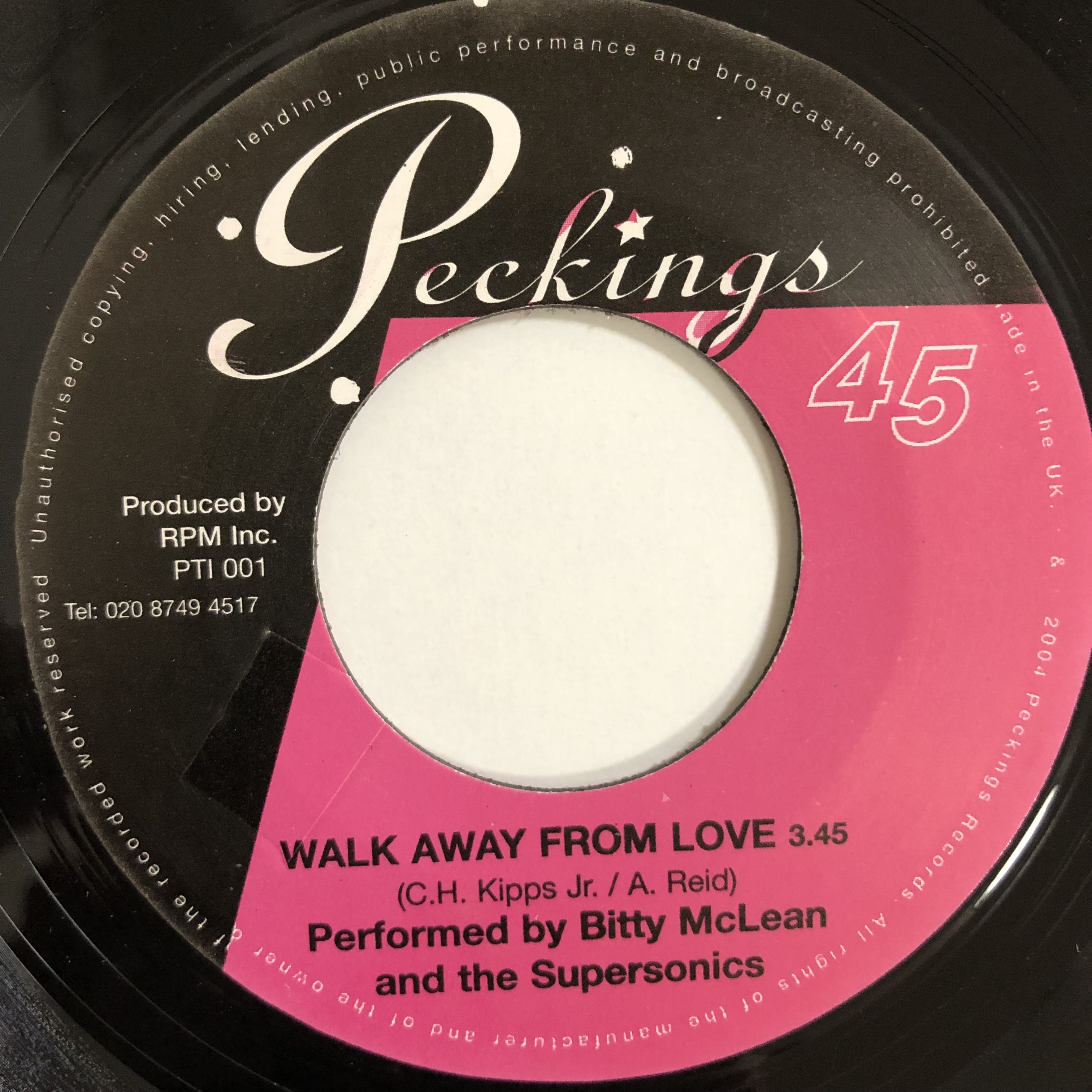 Bitty McLean, The Supersonics – Walk Away From Love【7-20171】