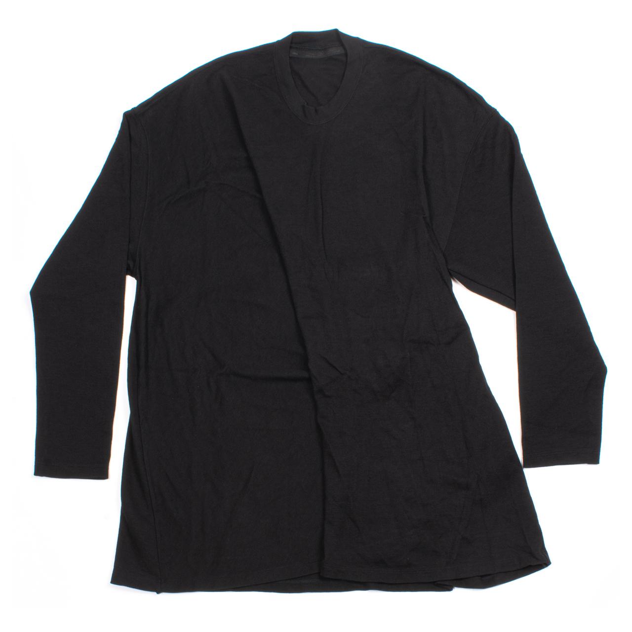 717CUM6-BLACK / ドレープロングスリーブTシャツ