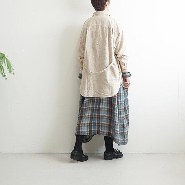 ichi イチ 起毛ベルト付きシャツ  (品番190507)